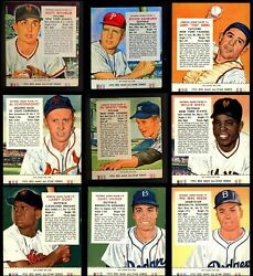 Red Man Tobacco  1955 Red Man Baseball Partial Complete Set VGEX
