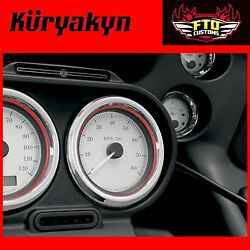 Kuryakyn Large Deluxe Gauge Bezels For H-d 00-13and039 Touring 3781