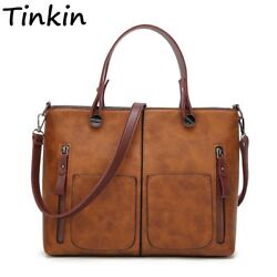 Tinkin Vintage Shoulder Bag Causal Totes for Daily Shopping All Purpose Women $31.19