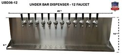 Under Bar Dispenser 12 Faucets Glycol Ready -s. Steel Draft Beer Tower-ubd36-12g