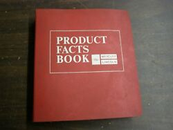 Oem Ford Dealers 1973 Mercury Facts Book Comet Cougar Marquis Montego Lincoln Iv