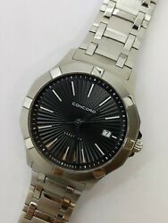 Concord Saratoga 320154 Stainless Steel Quartz Watch 40mm - Box And Papers