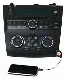 Nissan Altima 07-09 AM FM Radio Single CD Aux Climate Controls 28185 ZN40B PY13B