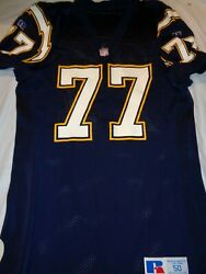 Russell Athletic San Diego Chargers Eric Moten 77 Authentic Nfl Jersey Size 50