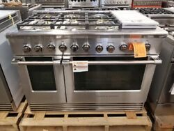 NEW OUT OF BOX FISHER PAYKEL 48 INCH GAS RANGE WITH 6 BURNERS AND GRILL