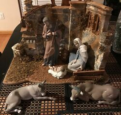 This Is A Beautiful And Adorable Lladro Nativity Set. It Comes With A Manger