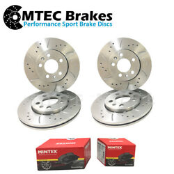 Bmw 5 F10 518d 520d 520i 523i Drilled Grooved Front And Rear Brake Discs And Pads