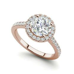 Pave Halo 4.35 Carat VS1H Oval Cut Diamond Engagement Ring Rose Gold