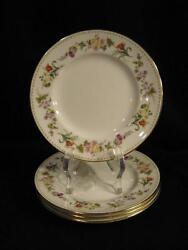 Wedgwood R4537 Mirabelle B And B Plates - Four New, Never Used - Pristine