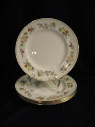 Wedgwood R4537 Mirabelle Salad Plates - Four New, Never Used - Pristine