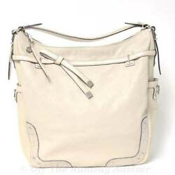 RETAIL $798 Coach Silver Putty Pinnakle Leather Allie Hobo Bag Size NS