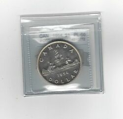1954 Coin Mart Graded Canadian Silver Dollar Pl-66 Pcgs