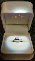 Engagement Ring .49 Diamond Solitaire Clrty-vs1 Clr-h Cut-ideal. 18k Wg Band