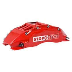 Disc Brake Pad Caliper and Rotor Kit-Red Caliper  Slotted Rotor Front Stoptech