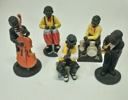 Turtle King 1995 Collectible Jazz Figurines 5 Piece Lot