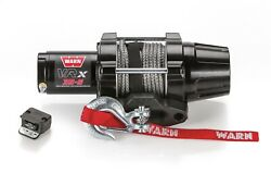 Warn 101030 Vrx 35-s Power Sport Winch With 3500 Lb Capacity 50and039 Synthetic Rope