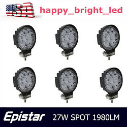 6x 27w Round Spot Work Light Bar Fog Driving Lamp Truck Tractor Suv Offroad Ford