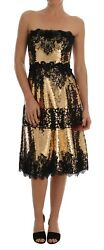NEW $15400 DOLCE & GABBANA Strapless Dress Sequin Embellished Lace IT40/US6 /S