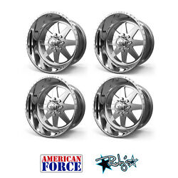 4 22x11 American Force Polished Independence Wheels For Chevy Gmc Ford Dodge