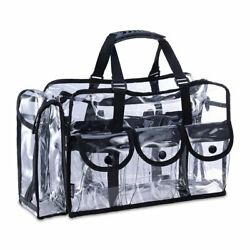 KIOTA Makeup Artist Clear Cosmetic & Beauty Storage Set Bag Organizer