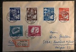 1951 Berlin East Germany Ddr Cover To Seelbach Peace Issue Stamp Sc 71-74