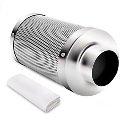 iPower 4 Inch Air Carbon Filter Odor Control Scrubber for Inline Fan