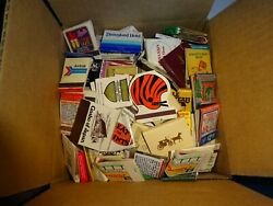 Lot 375 + Vintage Matchbooks W/ Flip Cover Matches And Match Boxes