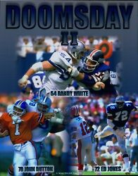 Dallas Cowboys Doomsday Ii White/dutton/jones Nfl Unsigned Glossy 8x10 Photo A