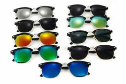 Classic Polarized Sunglasses Half Metal Mirror Unisex Eye Wear Vintage Outdoors