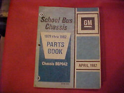 Gm Chevy Parts Book School Bus Chassis 79 80 81 82 Diesel Gas Trans 70s Party