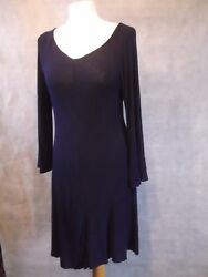 Superb Phase Eight Long Violet Top With Bell Sleeves 14