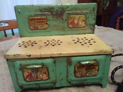 Louis Marx Vintage Little Orphan Annie Childs Electric Metal Toy Stove