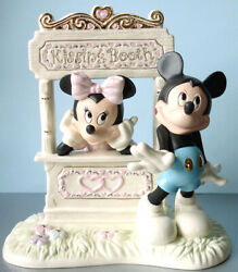 Lenox Disney Kissing Booth Kisses For Mickey Mouse W/minnie Figurine New Box