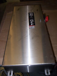 New Ge Th4324ss 200 Amp 240v Non Fused Stainless Steel Safety Switch Disconnect