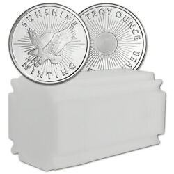 1 Oz. Silver Round - Sunshine Minting - .999 Fine Lot, Roll, Tube Of 20