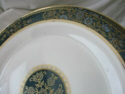 Royal Doulton Salad Plate Carlyle Gold Blue H5018 Discontinued 1972-2001