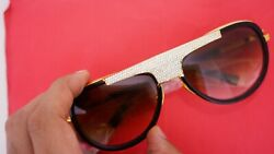 Dita Mach Two 2031b 60i - Black/gold - Brown Gradient 270 Diamonds Iced Out