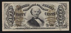 Us 50c Fractional Currency 5th Issue Fr 1335 Ch Au -002