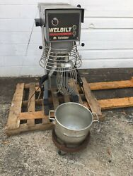 Welbilt Varimixer 40 Qt Planetary Mixer With Bowl Whip Paddle Shield And Dolly