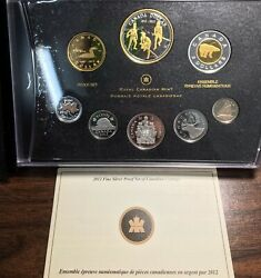 2012 Canada Rcm 999 Silver Last Penny Proof Set With Original Box And Coa