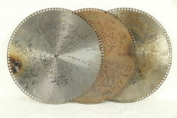Regina Music Box Group Of 3 Antique 15 1/2 Disks Sweet And Low Song 30782