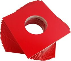25 Red Heavyweight 7 Colored Record Jackets Covers 45rpm Singles 07jwrehh