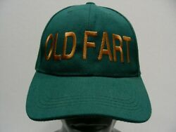OLD FART - GREEN - POLYESTER - ONE SIZE ADJUSTABLE BALL CAP HAT!