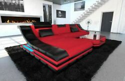 Sectional Fabric Sofa New York L Shape Couch with LED Lights