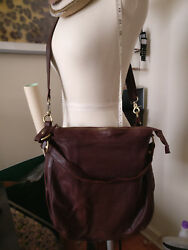 MINT: Large Shoulder Tote Satchel Brown Geunie Leather Bag - Japanese Brand