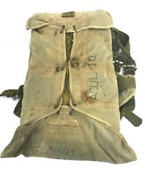 Vintage Efa Military Pilots Packed Parachute And Harness