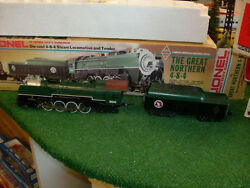 Lionel Trains No. 3100 The Great Northern 4-8-4 Steam Locomotive And Tender 1981
