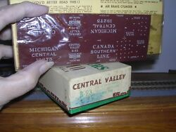Central Valley B-93 M.c. Old Time 36' Truss-rod Box Car 19275 Kit H.o. 1/87