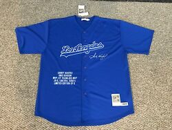 Rare Mitchell And Ness 1963 Dodgers Sandy Koufax Jersey Signed Limited Edition