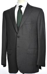 KITON Mens 3-BTN Solid Gray Wool Suit Size 54 EU 44 R US NEW $8495